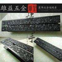 Antiguo chino nubes talla del arte puerta manija Hotel clubes bronce puerta de cristal manejar stock