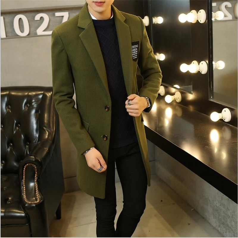 Classic Men's Trench Coat 2017 Spring Autumn New Arrival Top quality Cotton Plus Velet Thicken Warm Mid-Long Coats CoatTrench