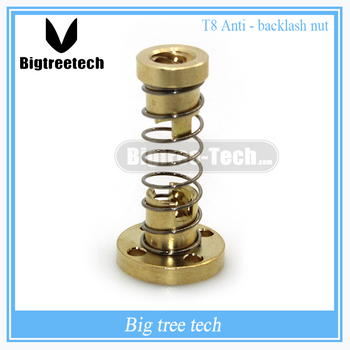 T8 Anti Backlash Spring Loaded Nut Elimination Gap Nut for 8mm Acme Threaded Rod Lead Screws DIY CNC 3D Printer Parts