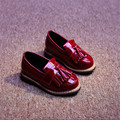New 2016 Spring Kids Shoes British Style Girls Leather Shoes Cool Fringe Children Shoes #2935