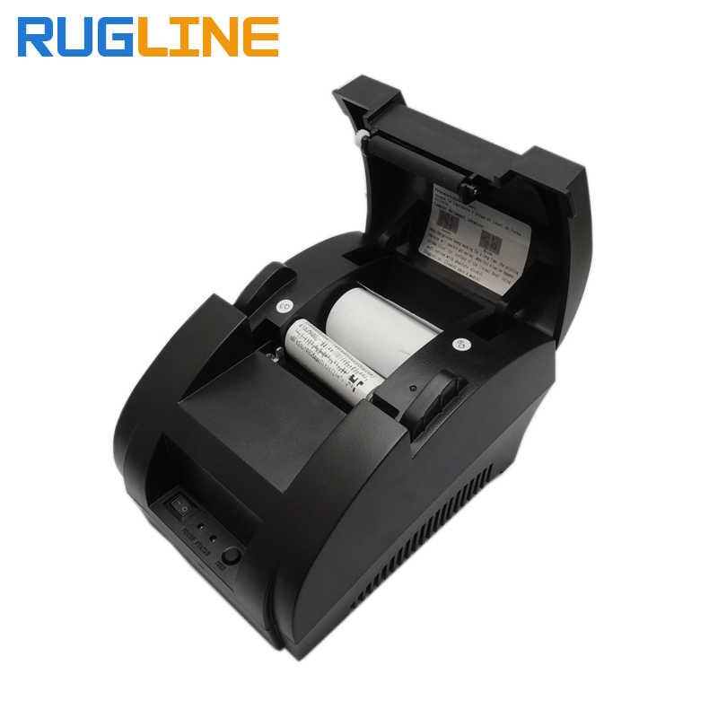 Бесплатная доставка Мини 58 мм 5890k термопринтер билетов POS термопринтер USB и сканер штрих-кода