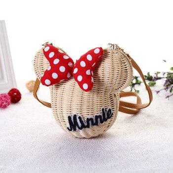 Minnie Mouse Handmade Rattan Bag