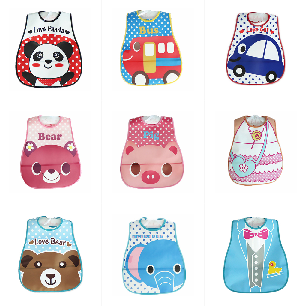 3pcs/Set Cartoon Cute Baby Girl Boys EVA Bibs Waterproof Comfortable Safe Todders Saliva Towel Bib