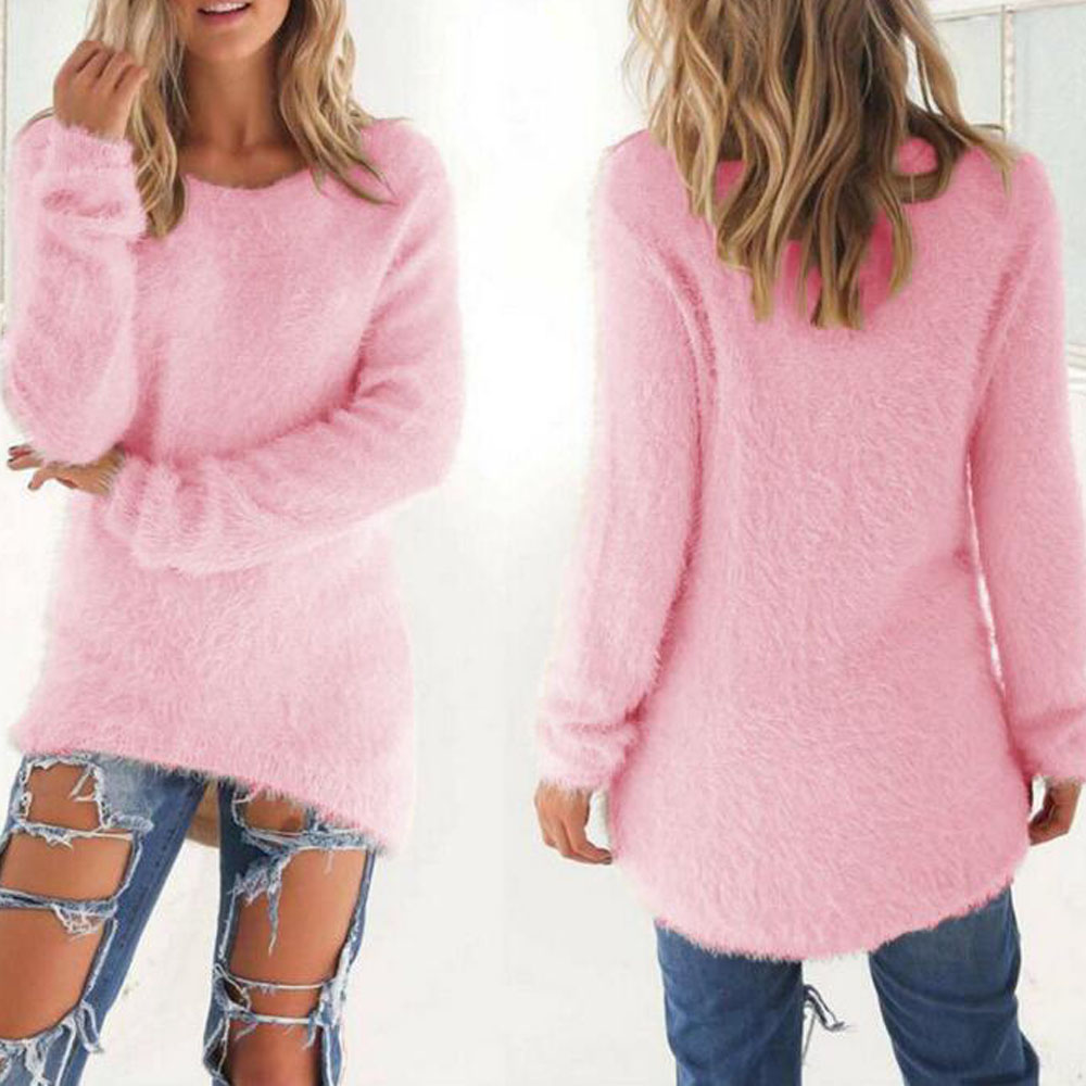 Online Shop New Cute Pink Girls Cotton Long Sleeve Winter Sweater ...
