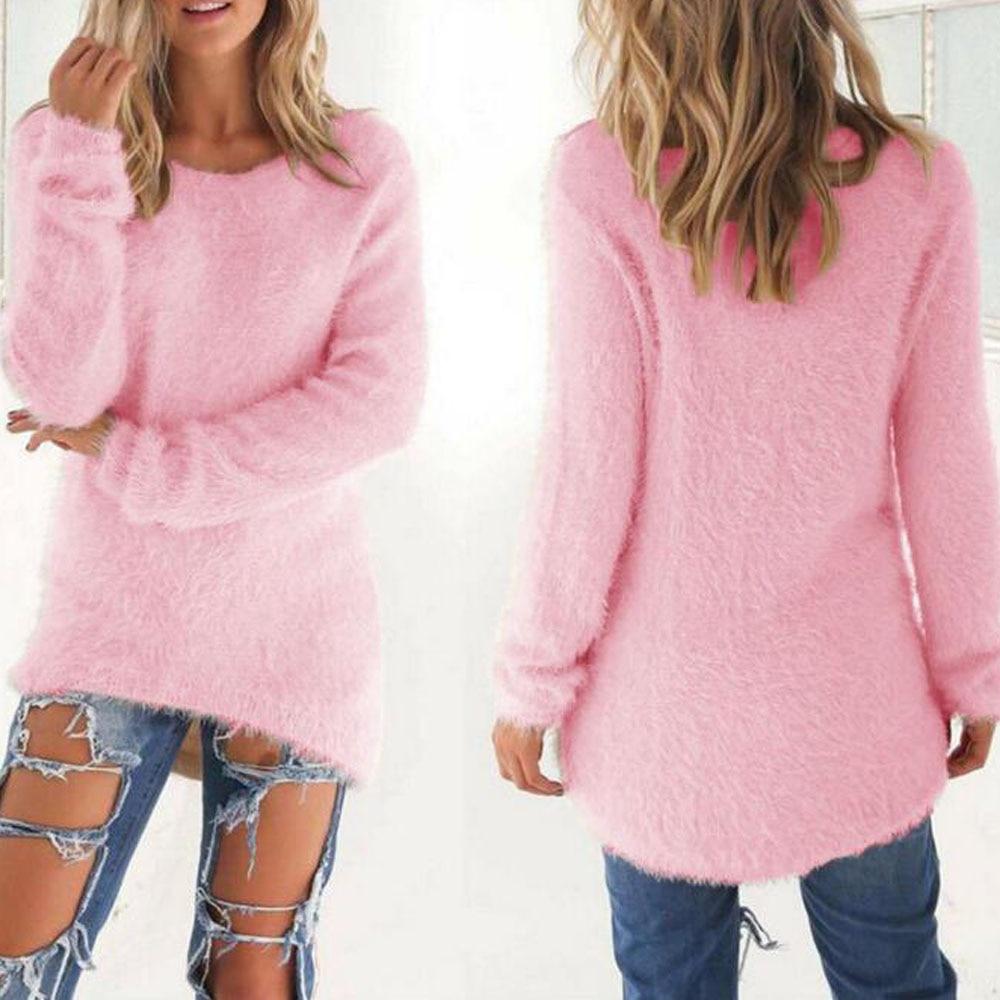 Online Shop New Cute Pink Girls Cotton Long Sleeve Winter Sweater ...