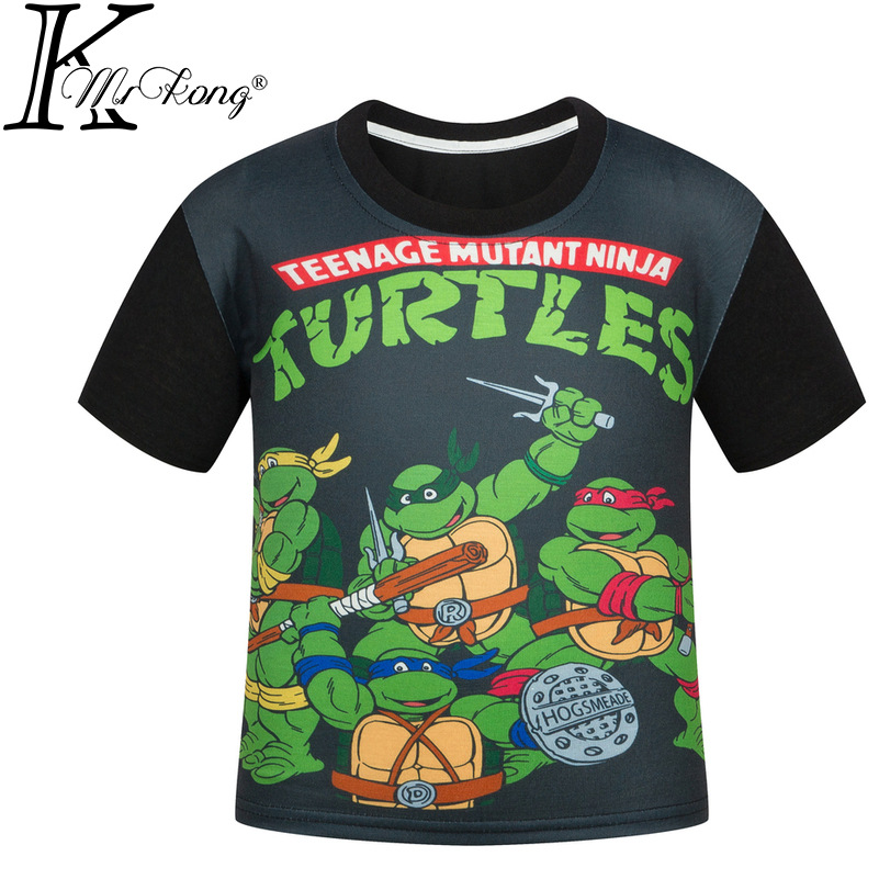 New Boys T Shirt Brand Cartoon Turtle Print T-shirt Designer Children's Kids Little Boys Tops Tee Infant Child Clothes for 4-12Y