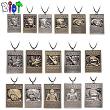 16 types ONE PIECE vintage Choker Necklace Luffy Zoro Robin Chopper Warrant Pendant Necklace Friendship Men Women Anime Jewelry