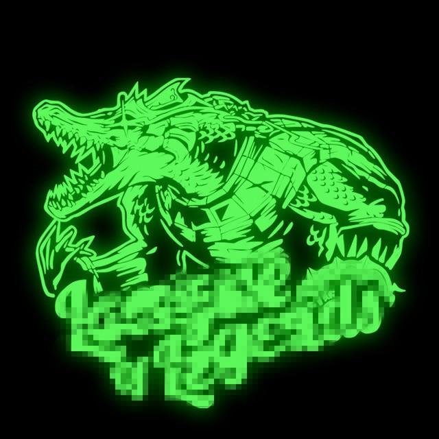 Pyrography 28 25cm Heat Transfer Cool Luminous Crocodile Patch Iron