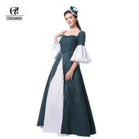 ROLECOS Brand 2017 New Arrival Retro Dress Women Lovely Speaker Sleeves Long Dress Female Party Medieval