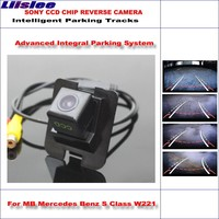 Liislee Intelligentized Reversing Camera For Mercedes Benz S Class W221 Rear View Back Up / 580 TV Lines Dynamic Guidance Tracks