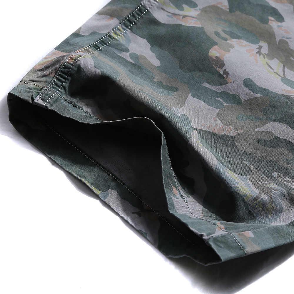 Treesolo мужские камуфляжные армейские Шорты Cargo 2018 мужские шорты Удобные укороченные хлопковые бермуды брюки Прямая доставка 504