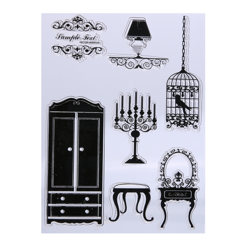 DIY Silicone Transparent Seals Scrapbooking Card Clear Stamp Paper Card Embossing Template Character Girl DIY Paper Craft clear acrylic a3a4a5a6 sign display paper card label advertising holders horizontal t stands by magnet sucked on desktop 2pcs