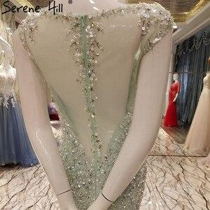 Image 5 - Vestido de noche de tul de sirena elegante, Sexy, de lujo, Lentejuelas de cristal larga, brillante, foto Real, LA6091, 2020