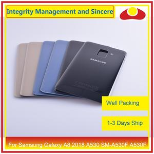 Image 2 - 50Pcs/lot For Samsung Galaxy A8 Plus 2018 A730 SM A730F A730F Housing Battery Door Rear Back Cover Case Chassis Shell A8+ Cover