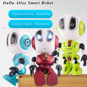 Smart Talking Robot Toy DIY Gesture Electronic Action Figure Toy Head Touch-Sensitive LED Light Alloy Robot Toys For Kids Gift led costume led clothing light suits led robot suits kryoman robot david guetta robot size color customized