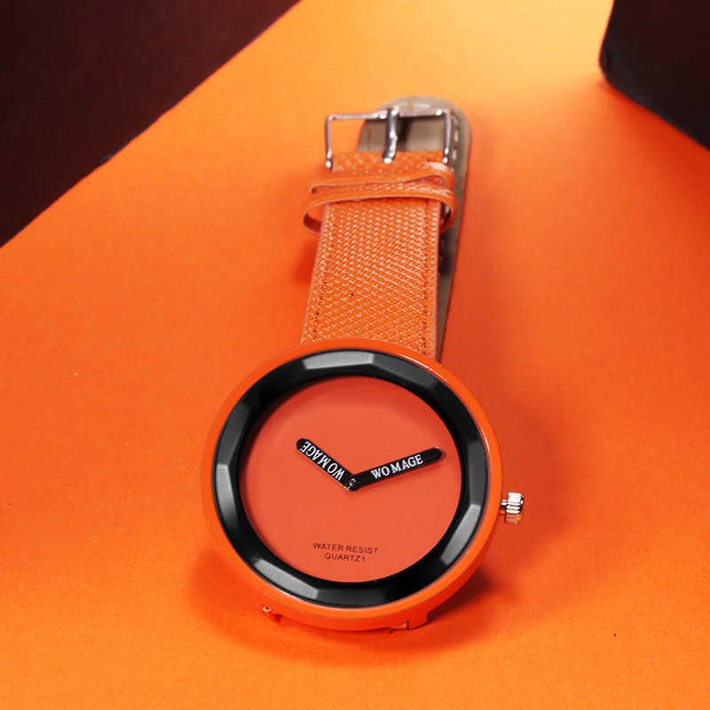 ร้อนขายแฟชั่นผู้หญิงนาฬิกาหนังสุภาพสตรีนาฬิกาผู้หญิงสาวนาฬิกานาฬิกา reloj mujer montre femme
