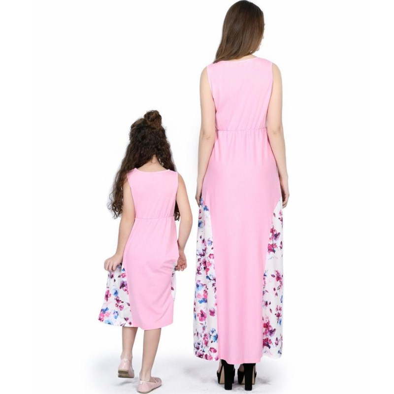 Motivated Matching Family Dress Summer Mother Daughter Dresses Novelty Striped Print Family Look Sleeveless Mommy And Me Matching Clothes Mother & Kids