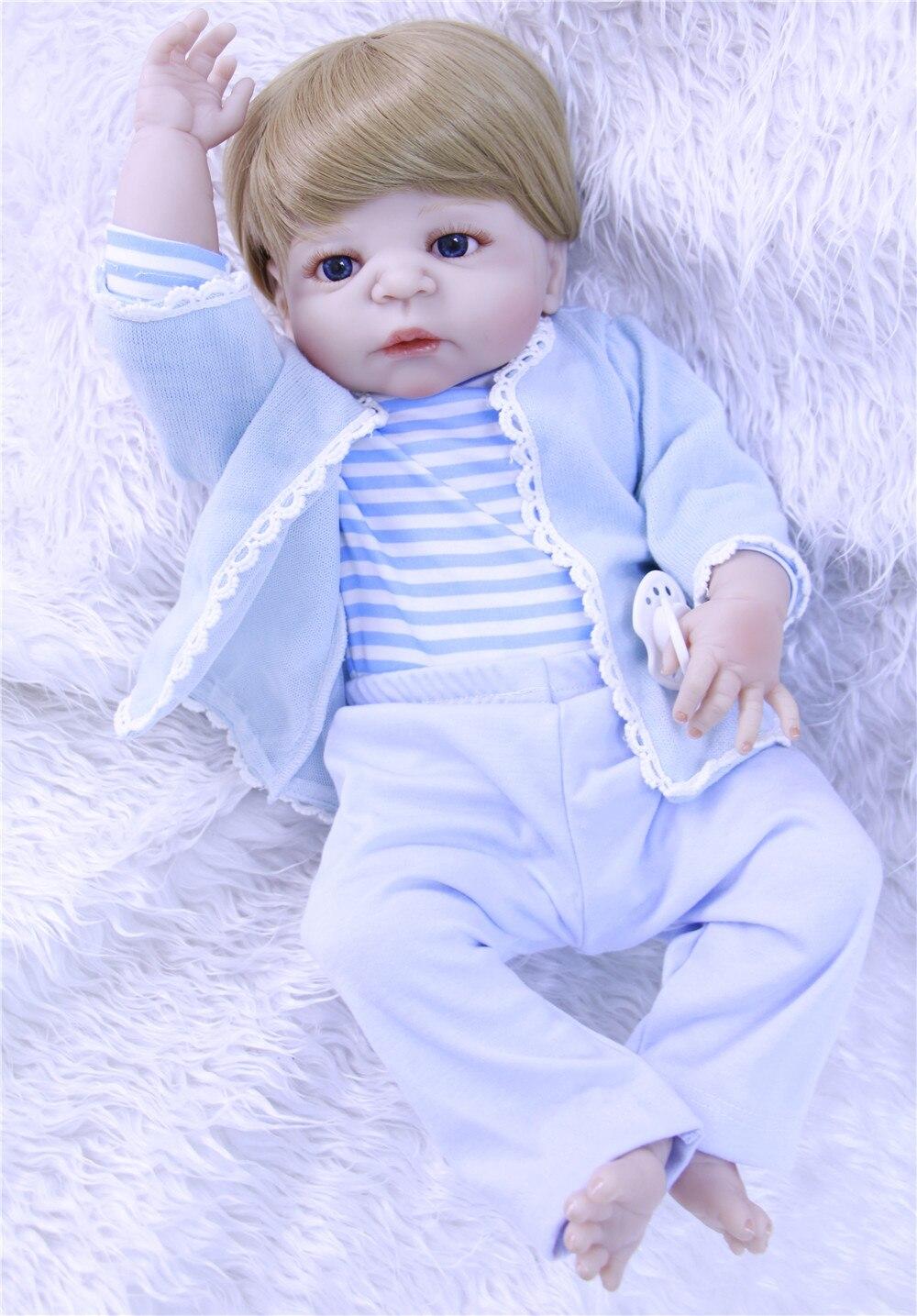 57cm big size bebes reborn doll Lifelike newborn Baby boy Bonecas kid toy full silicone reborn baby dolls Interactive toy gift