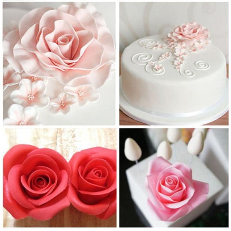 ٩(^‿^)۶3D pastel cereza molde en forma de silicona Fondant flores ...
