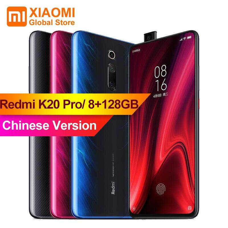 Xiaomi Redmi K20 Pro 8 GB 128 GB Tela Cheia 48 Milhões de Super Grande-angular Pop Telefone Móvel- na Frente Da Câmera do Smartphone