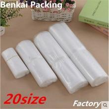 PE Flat Pocket Food Compression Vacuum Bag 8 Wire High Pressure Transparent Plastic Heat Sealed 100pcs Lot
