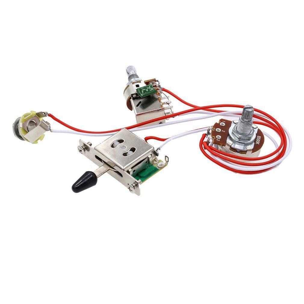 electric guitar wiring kit 1 volume 1 tone 3 toggle switch 500k pots jack 1 set in guitar parts. Black Bedroom Furniture Sets. Home Design Ideas