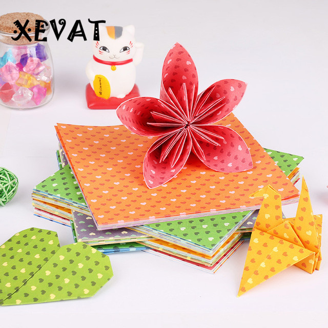 30 Pcs Cinta Hati 15 Cm Persegi Bahan Membuat Bunga Kertas Origami