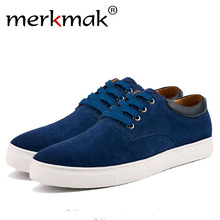 Merkmak British Style Men Shoes Fashion Casual Suede Footwear Flats Shoes Formal Business Sneakers Big Size 38-49 Drop Shipping