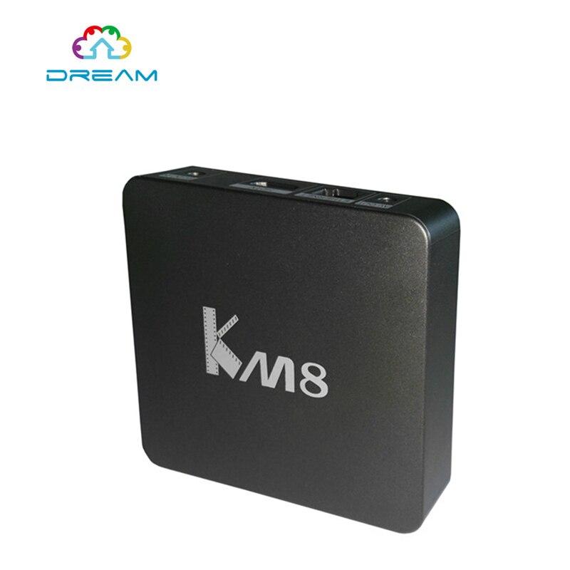 ФОТО 4K Android 6.0 Smart TV Box 2GB 16GB Amlogic S905X Quad Core KM8 Mini PC  5.0G Dual Wifi HDMI H.265 Tvbox Set Top Box