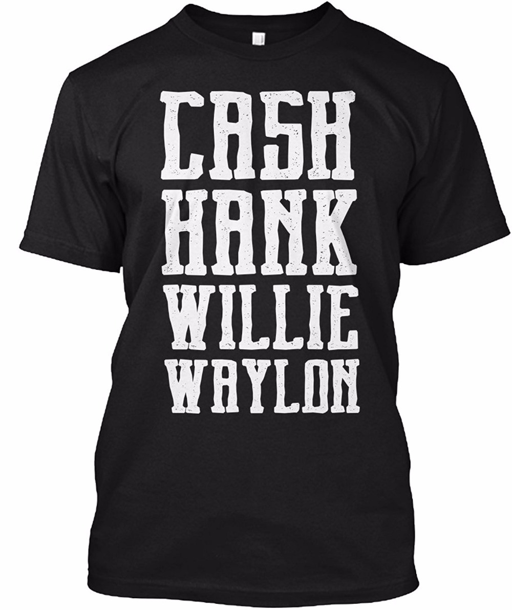 Spring Summer Short Sleeve T Shirts Cash Hank Willie Amp Waylon Men Fashion Tees Slim Fit Plus Size Top ...