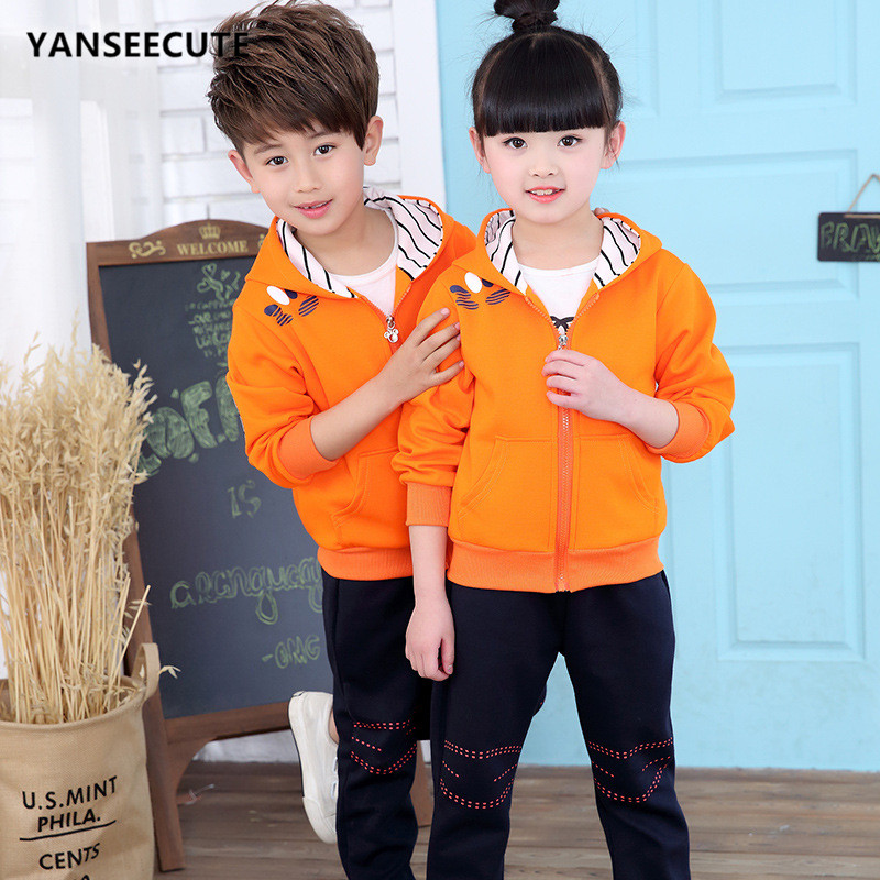 children girls tracksuits costume for girl children's clothing boy Children's Sets Children's Clothing 1set/lot ASHF-TYXS001-1P