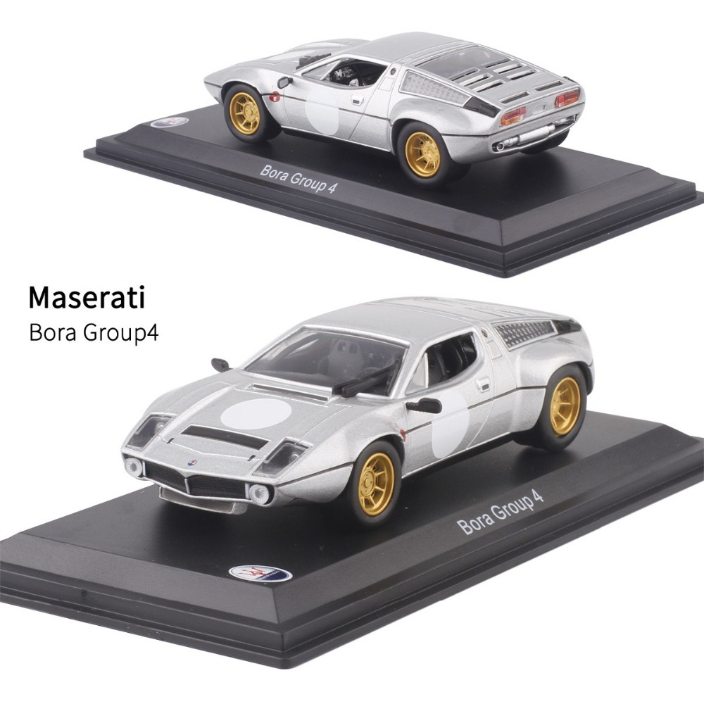 1/43 <font><b>Scale</b></font> Italy Maserati Bora Group 4 <font><b>Diecast</b></font> Metal Alloy Car <font><b>Model</b></font> <font><b>Toy</b></font> For Kids Birthday Gift Collection Free Shipping image
