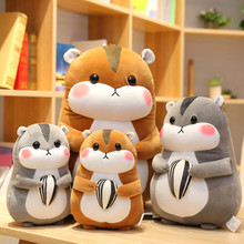 цена на New 23cm/30/45cm Cute Hamster Mouse Plush Toy Stuffed Soft Animal Hamtaro Pilloq Soft Pillows Kawaii Birthday Gift for Children
