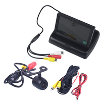 4.3 Color TFT LCD Folding Car Parking Assistance Monitors DC 12V Car Monitors With Rear View Camera for Renault Clio 2 3 4