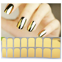 Gold/Silver/Black Nail Sticker Full Cover Sheet Glitter Christmas