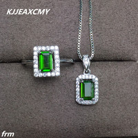 KJJEAXCMY Fine jewelry 925 sterling silver natural diopside set wholesale live mouth sterling silver hot