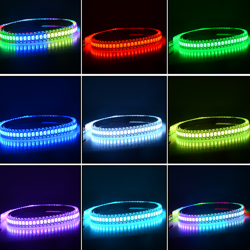 1 metro WS2812 IC LED Strip Light 5V 144 LEDs Flexible LED Diodo - Iluminación LED - foto 2