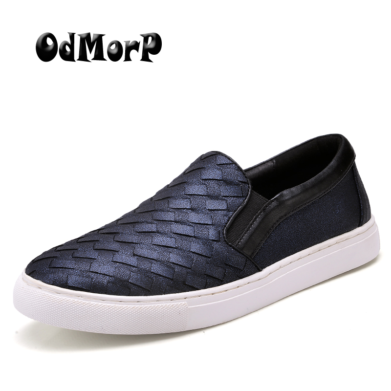 ODMORP 2018 Men Shoes Luxury Brand Braid Leather Casual Driving Oxfords Shoes Men Loafers Moccasins Italian Shoes for Men Flats new style comfortable casual shoes men genuine leather shoes non slip flats handmade oxfords soft loafers luxury brand moccasins