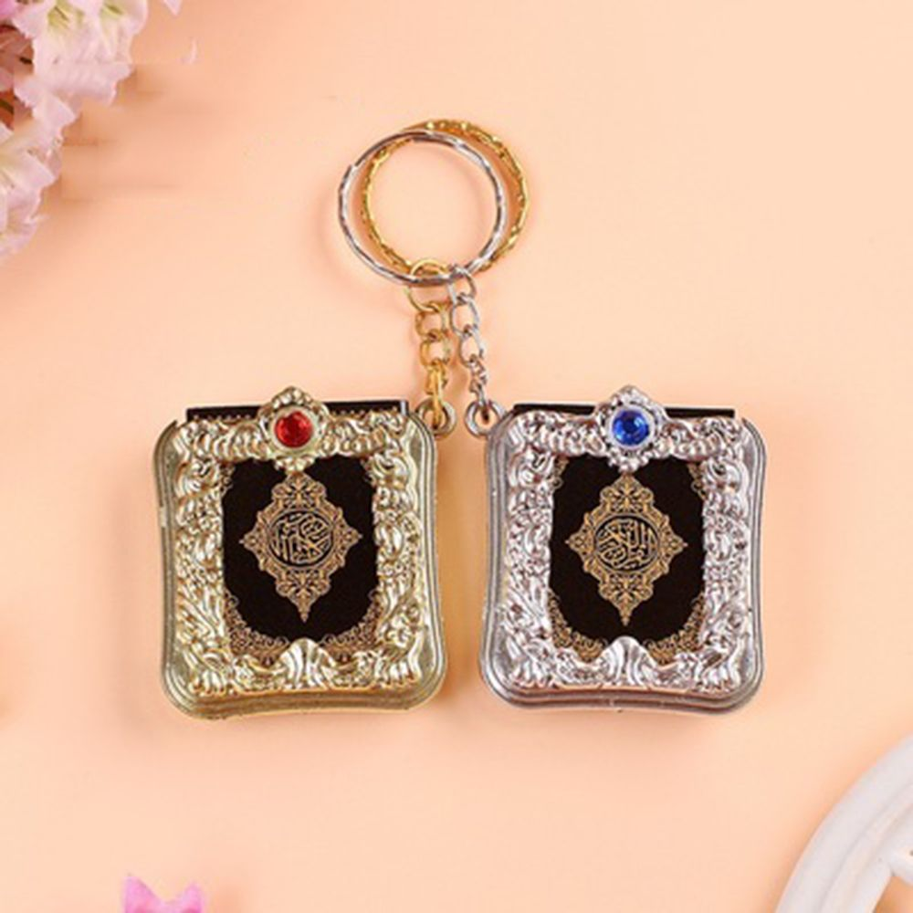2019 New Hot Fashion Mini Ark Quran Book Koran Pendant Muslim Keychain Bag Purse Car Decor Newly  Ring Gift  Key Chains Hot