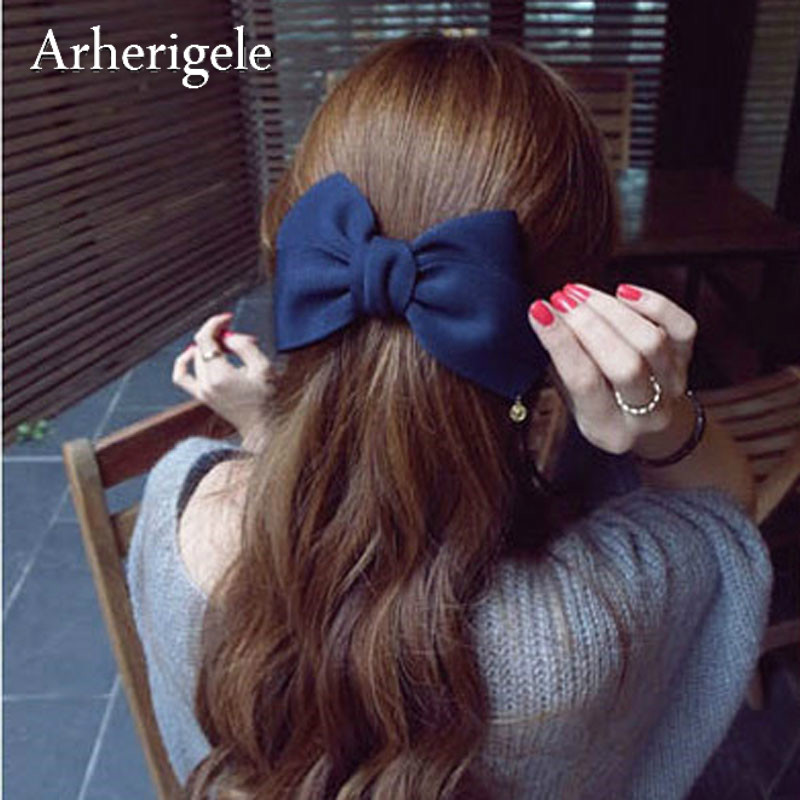 Arherigele 1pcs Fashion Hair Accessories for Women Bowknot Hair Clips   Headwear   Ribbon Bow Hairpins Barrettes Hair Styling Tools
