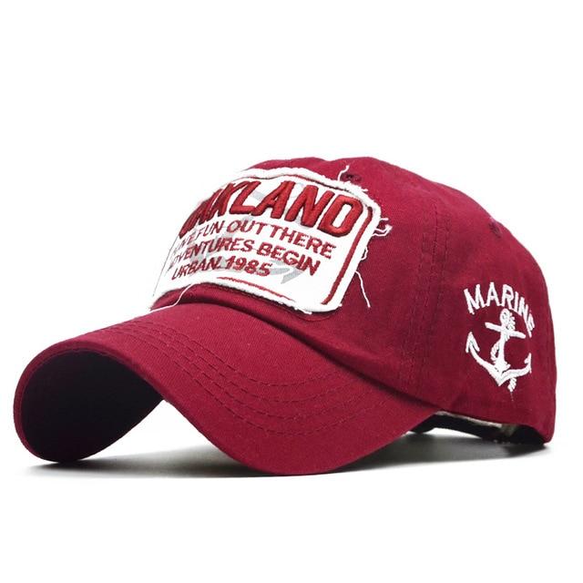 33cb0da0c91 Baseball Cap Men Brand For Women Sports Dad Hat Oakland Autumn And Winter  Full Cap Bend