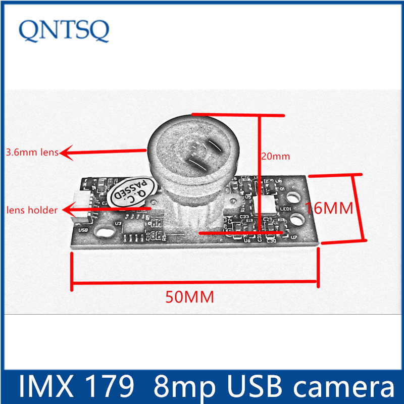 New 8MP usb camera module high resolution with Sony IMX 179 Sensor