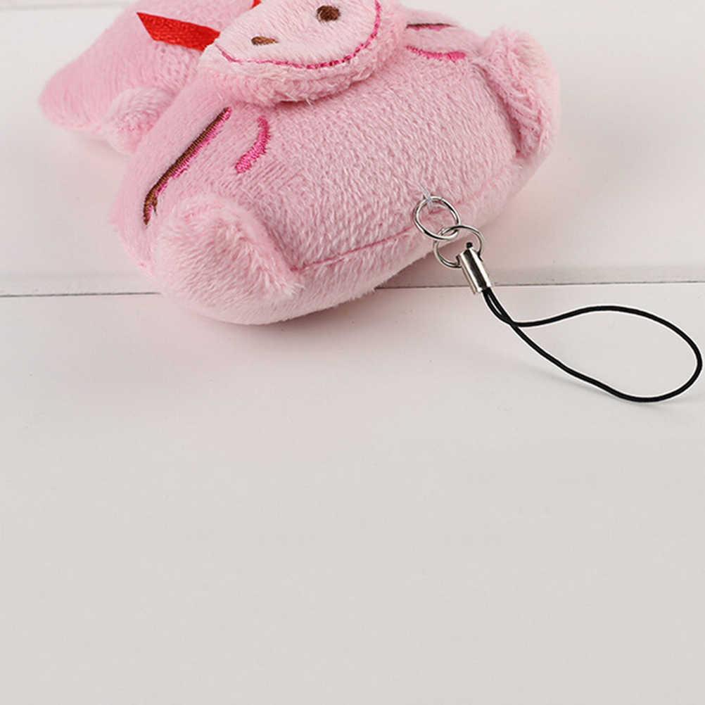 2017 Cute Cartoon Pig pluszowy telefon komórkowy urok Piggy nadziewane telefon komórkowy pasy kolor losowo smycz Decor