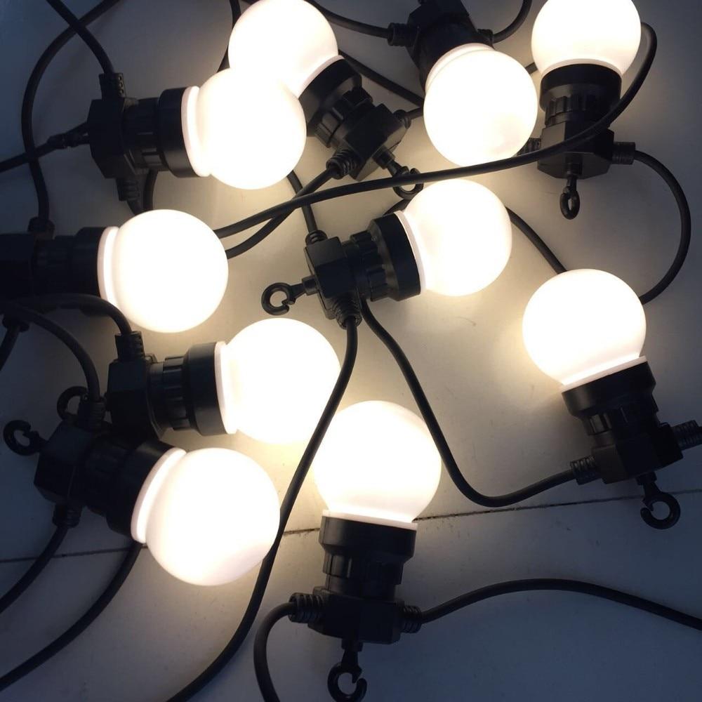 33ft/10M Globe String Light With 20 Clear/Milky Bulbs Connectable Vintage Festoon Ball String Light Christmas Lights