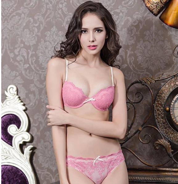 bb4d086c2f841 Hot Sale Sexy Women Cute girl adjustable Silk Push up Bra Set 3pieces lot B  Cup Breathable and Comfortable elegant في Hot Sale Sexy Women Cute girl ...