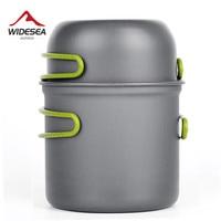 Ultralight Camping Cookware Utensils outdoor tableware set Hiking Picnic Backpacking Camping Tableware Pot Pan 1-2persons