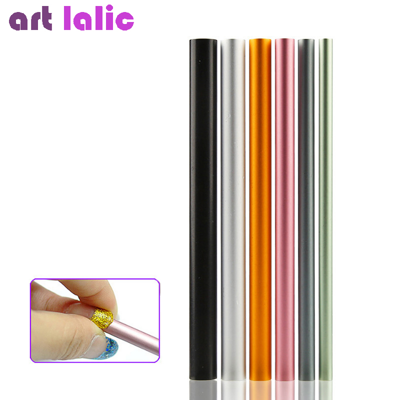 6Pcs/Set Artificial Form Builder Tips Acrylic C Curve Shaping Curving Sticks Tube French Rod Nail Art Tips UV Gel Manicure Tools 12pcs set nail art guide tips hollow stencils sticker french manicure template 3d vinyls decals form styling tool