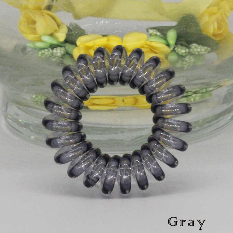 (12 Chiếc) tóc Cao Cấp Scrunchie Trong Suốt Điện Thoại Dây Thun Hairbands Cho Trẻ Em Nhỏ Kích Thước 15 Màu Có Sẵn