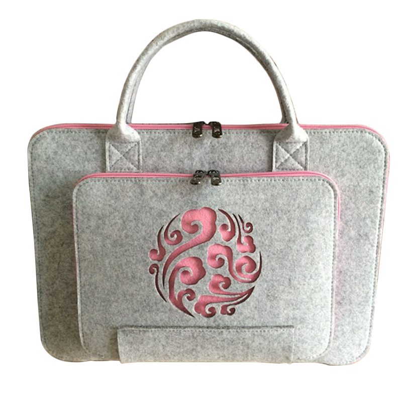 Universal Wool Felt Laptop Bag For Mac 11 13 15 17 Hand Bags Briefcase For Macbook