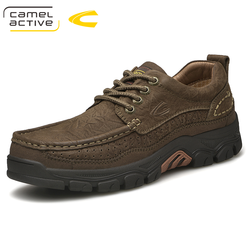 Camel Active Men's Casual Shoes Fashion Outdoor Leisure Set Foot Genuine Leather Cushioning Lightweight AutumnTravel Footwear